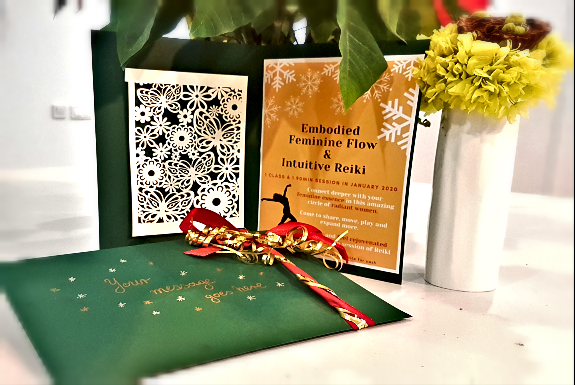 Embodied Feminine Flow & Reiki Christmas Voucher 2019 Gift Up - The Beauty of Now